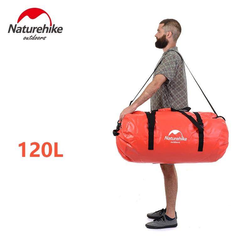 Mochila Naturehike impermeable para rafting en la playa, natación deriva, bolsa impermeable 40L-60L