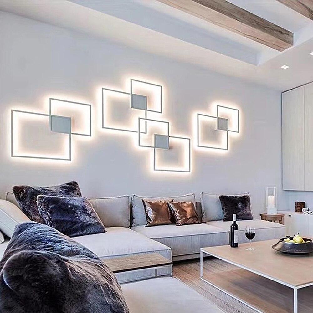 Homluce وحدة إضاءة LED جداريّة مصباح الإضاءة الداخلية غرفة المعيشة غرفة نوم بهو جدار داخلي للمنزل backgrod التلفزيون جدار أضواء شحن مجاني