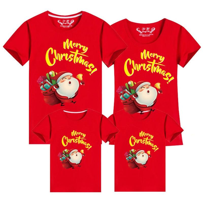 Новогодняя футболка для всей семьи, одежда для рождественских праздников, одинаковые комплекты для семьи, одежда для мамы, дочки, папы, ребе...