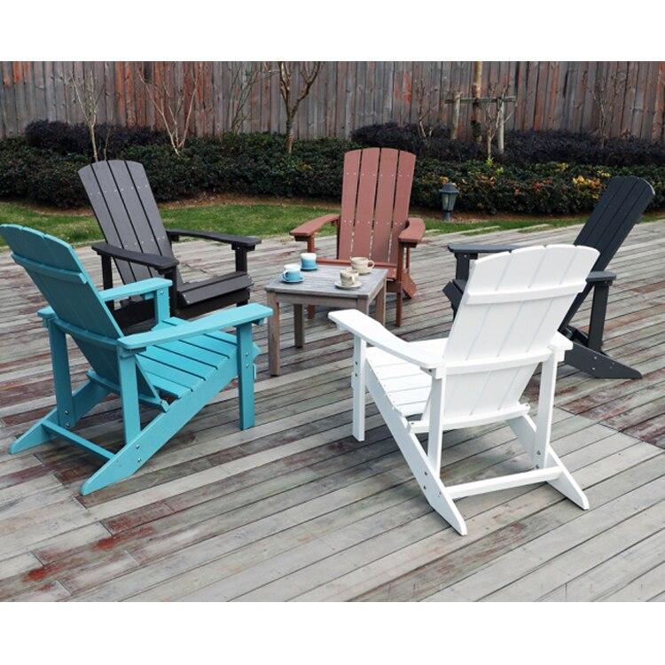Современный водонепроницаемый эргономичный дизайн наружный садовый водонепроницаемый пластиковый деревянный стул Adirondack