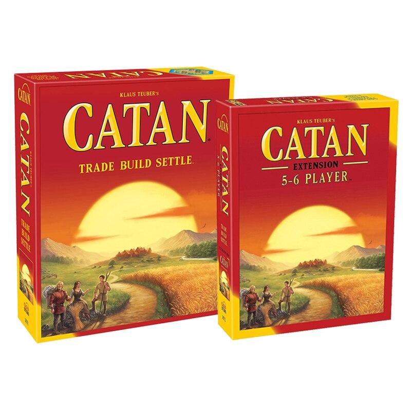 كاتان المجلس لعبة (قاعدة و 5-6 لاعب التوسع) للبالغين والأسرة مغامرة استراتيجية ألعاب متوسط وقت اللعب 60 دقيقة