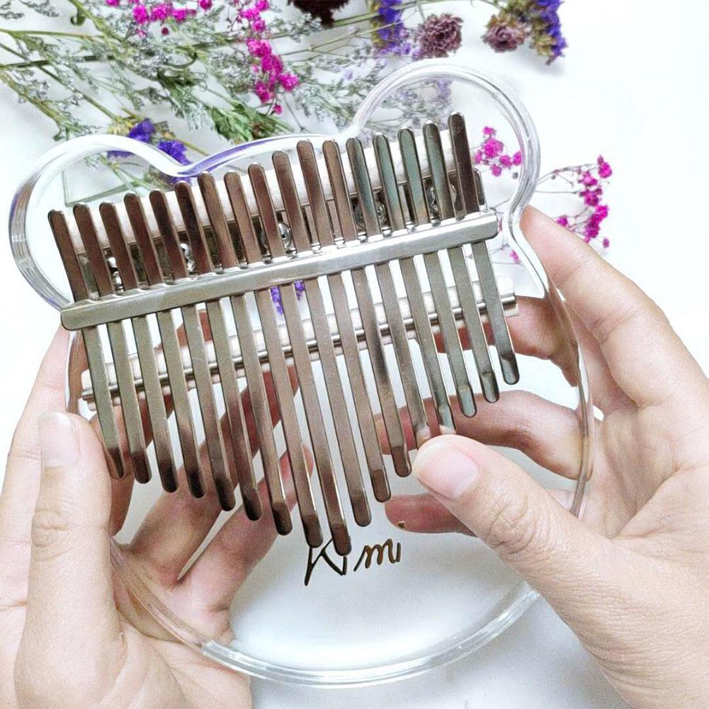 Kimi калимба акриловый 17 ключ Прозрачный большой палец фортепиано Mbira санза с тюнером молоток Gig калимба Чехол ручной Рождественский подарок