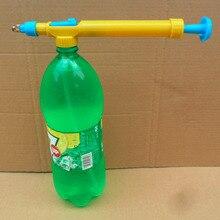 Mini jouets pistolets jus bouteilles Interface en plastique chariot pistolet pulvérisateur tête pression eau pulvérisateur tête de pulvérisation fournitures de jardinage
