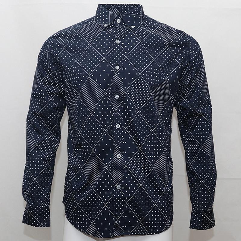 Camisa masculina de algodón tipo polo para hombre de manga larga con diseño de caballo, camisa informal de algodón para hombre