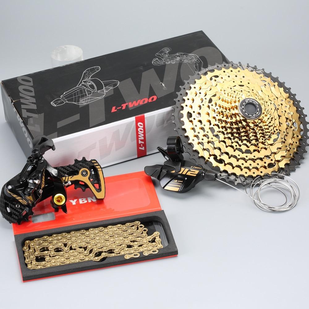 MTB Mountain Bike 12 Speed Groupset 12s 11-52T Cassette Shifter Rear Derailleur Shift Chain 12S Gold Group set For SRAM Shimano