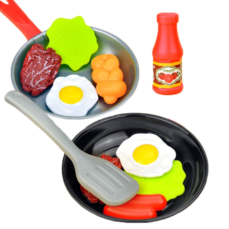 11pcs kids pretend play house kitchen toys set stainless steel cooking pots pretend cook play toy simulation kitchen cooking toy Pretend Play Kitchen Toy Miniature Kitchen Simulation Set Food Pots Pot Pan Cooking Play House Toys For Toddlers Girl Toddlers