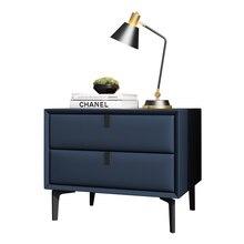 Installation gratuite Simple postmoderne chevet armoire lumière luxe nordique armoire de rangement chambre principale haut de gamme chevet armoire