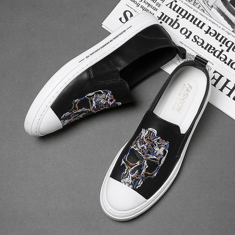 Zapatos informales de cuero sintético para Hombre, zapatillas deportivas de lujo con...