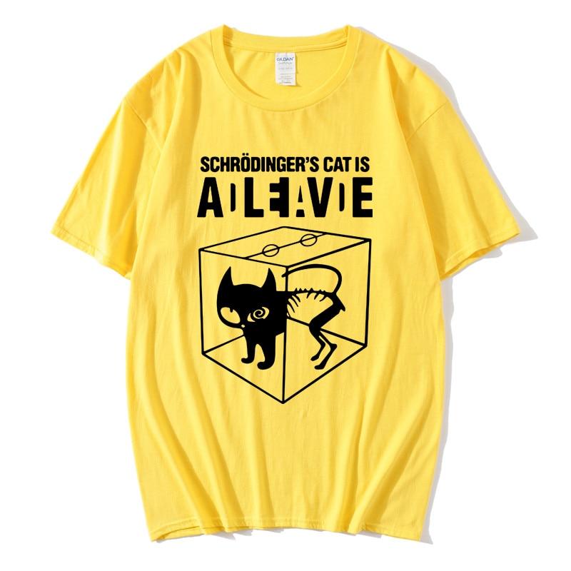 Summer Men T-shirt Schrodinger's Cat The Big Bang Theory Casual Short Sleeved Cotton Tops Male Women T-shirt Tee Camisetas Shirt