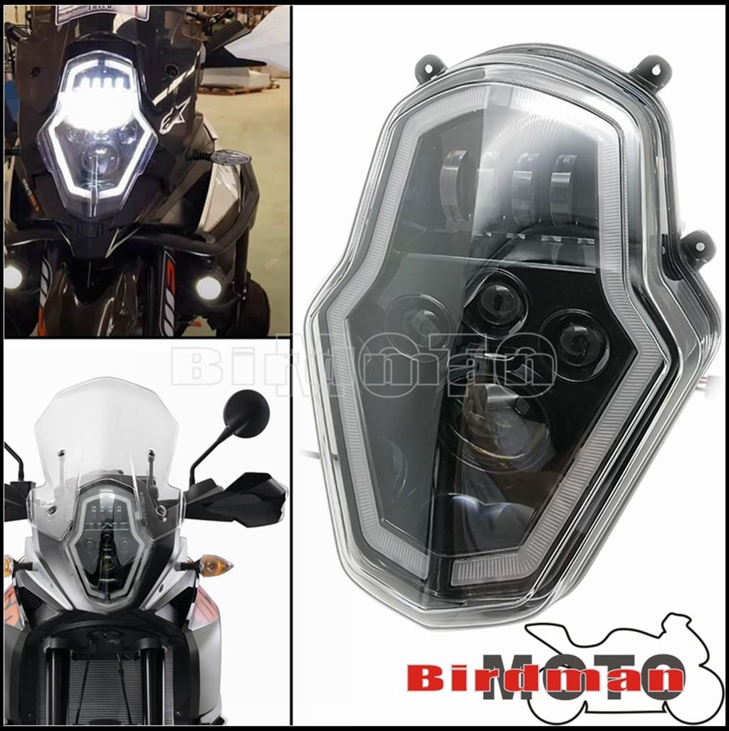 دراجة نارية النهار تشغيل ضوء LED مجموعة مصابيح أمامية انخيل العين DRL الجبهة مصباح أضواء للمغامرة 1050 1090 1190 1290 إندورو