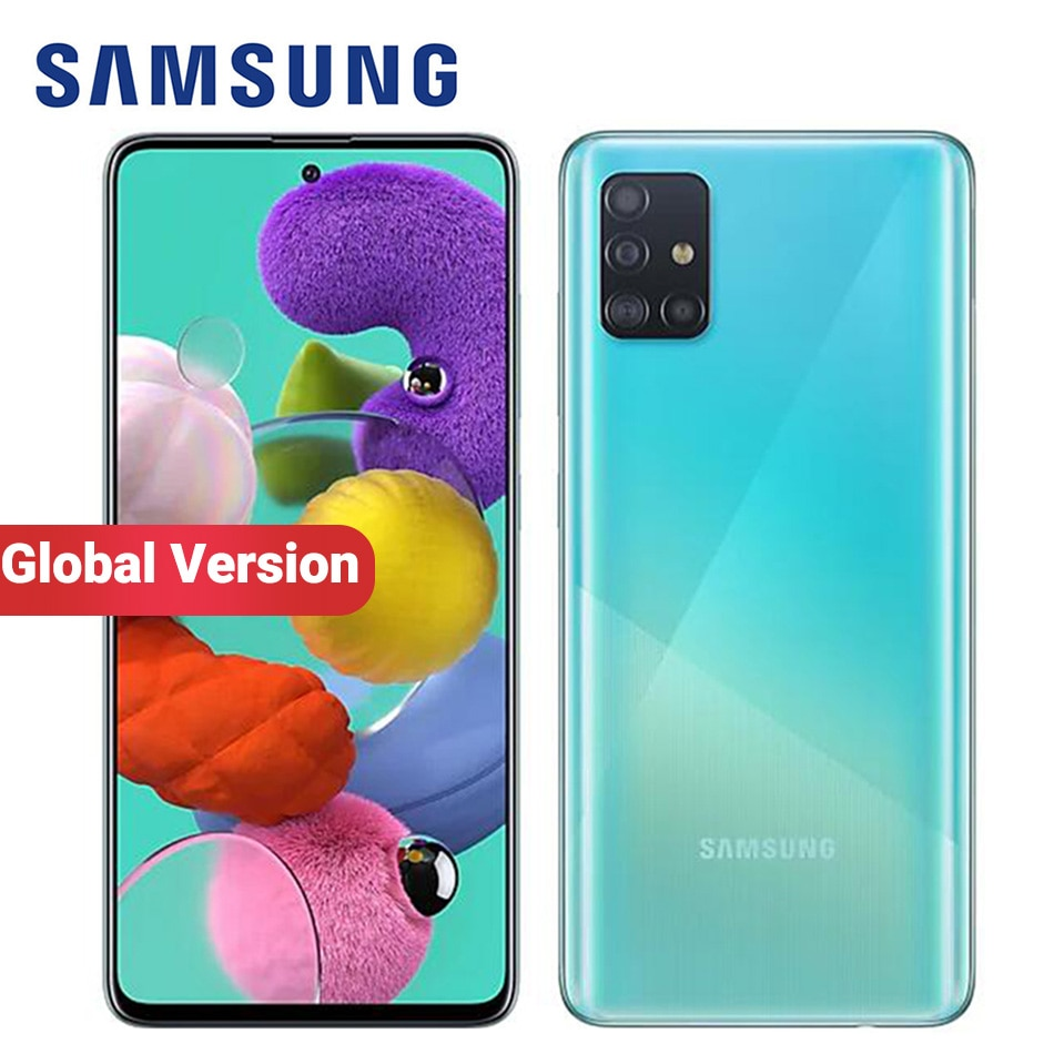Глобальная версия Samsung Galaxy A51 A515F/DSN мобильный телефон 128 Гб ROM 8 ГБ/6 Гб RAM 6,5 дюйм 1080x2400 48MP 4000 мАч NFC 4G смартфон