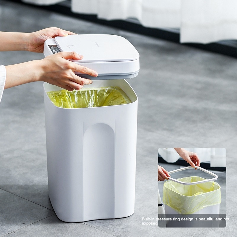 16L Smart Sensor Trash Can Rechargeable Kitchen Living Room Trash Can Bathroom Waterproof Trash Can Household Accessories enlarge