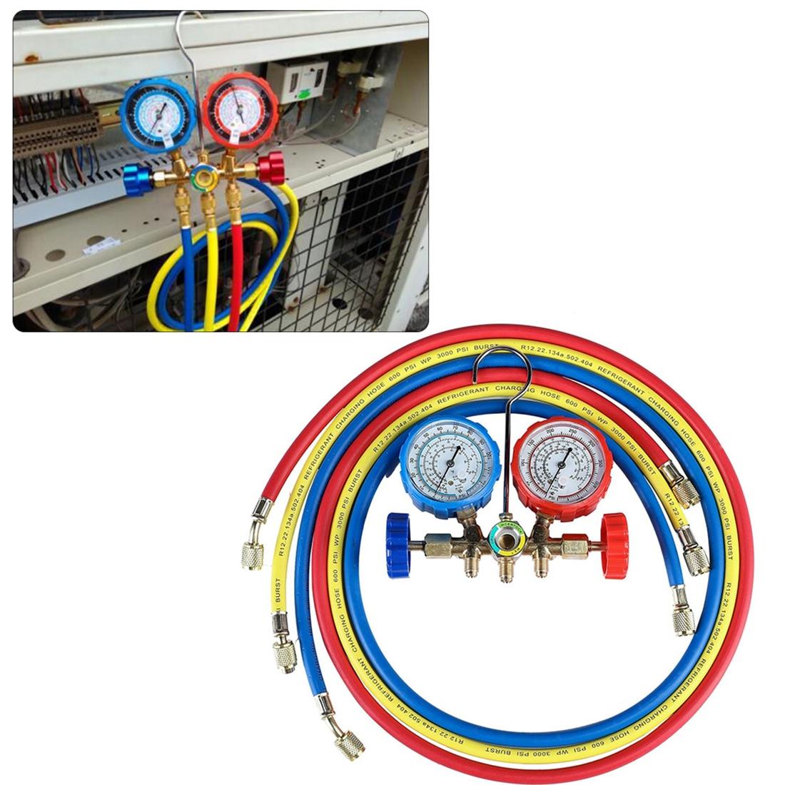 Комбинированный манометр для кондиционера, комплект оборудования для кондиционирования, комбинированный манометр для кондиционеров, ламп...