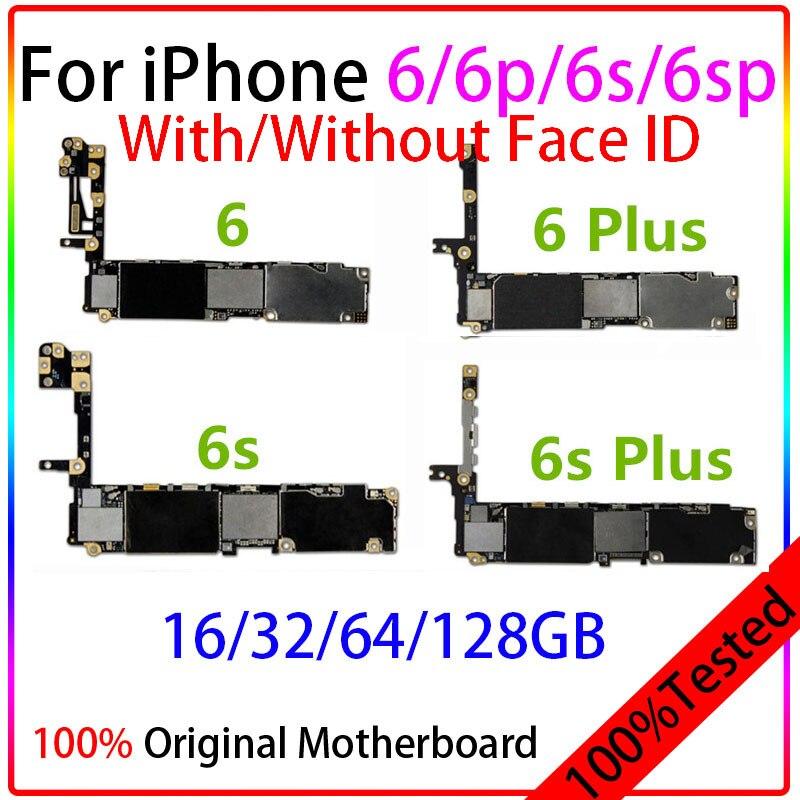 لوحة أم مفتوحة أصلية 100% لهاتف iPhone 6/6 Plus/6s/6s Plus لوحة منطق لا تعمل باللمس مع نظام IOS الرقائق اختبار كامل iPhone6