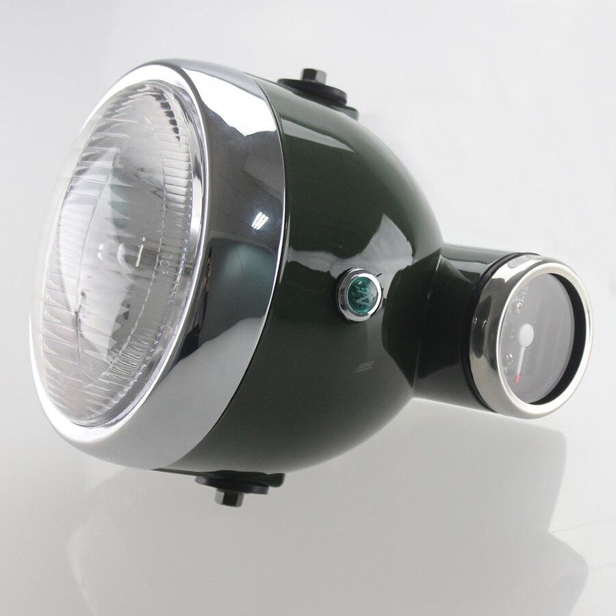 Tacómetro del velocímetro del faro integrado Retro de Moto para Monkey para guzzy V7I II JH70 CG125 Cafe Racer Bobber Universal