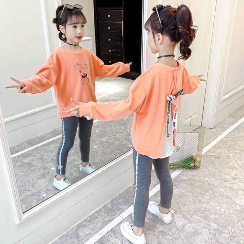 комплекты детской одежды bembi комплект детский 3 предмета кп184 Комплекты одежды для девочек, осень 2021, детский спортивный костюм, футболка с мультяшным рисунком + штаны, комплект детской одежды, одежда дл...