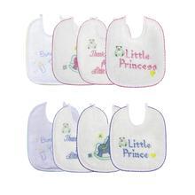 Нагрудники для новорожденных, 4 шт./компл., хлопчатобумажная вышивка, водонепроницаемый Слюна полотенце бандана, шарф, передник для новорожденных, аксессуары для кормления детей