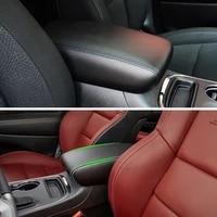 car microfiber leather interior center armrest box cover sticker trim for dodge durango 2011 2012 2013 2014 2015 2016 2017