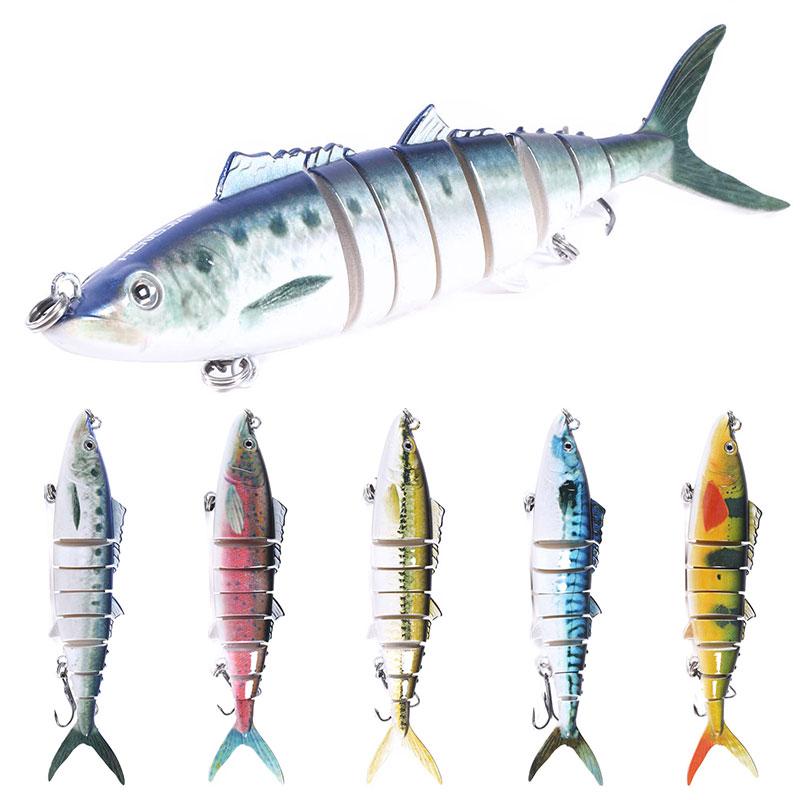 18cm 38g hundimiento bajos grandes carnadas con articulaciones Swimbait Señuelos de Pesca 8 segmentos aparejos de pesca