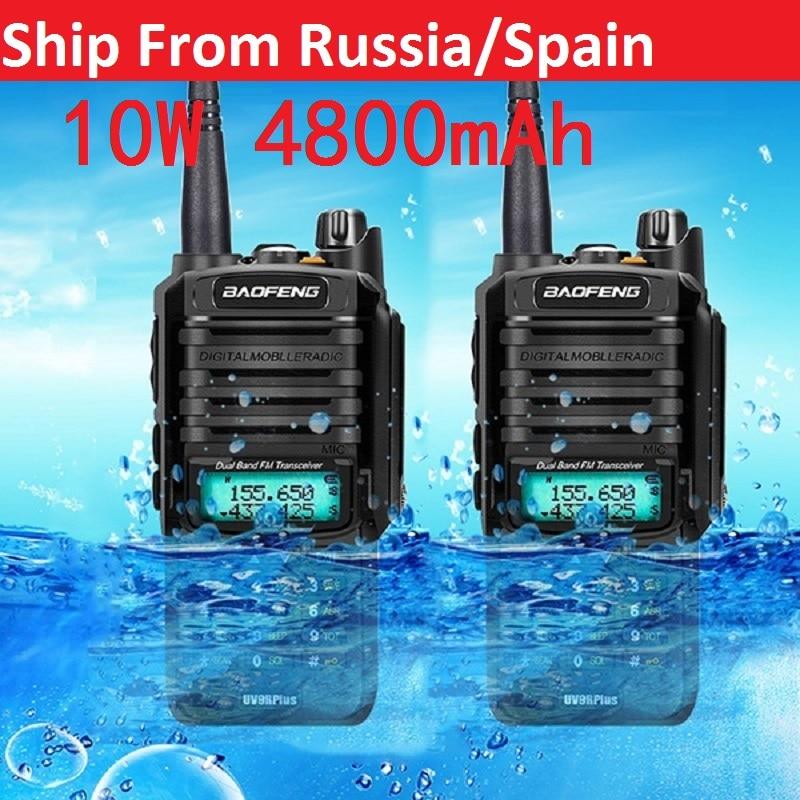 2pcs high quality 10W 20km Baofeng UV-9R plus ham radio cb radio comunicador waterproof walkie talkie baofeng uv 9r plus рация