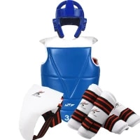 taekwondo helmet karate body vest protector set gear arm leg boxing shin guard training equipment men women kids children