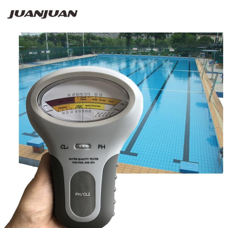 Medidor de cloro Tester PC-101 PH CL2 medidor de nivel Monitor de prueba de agua Spa acuario Monitor analizador de calidad 40% de descuento