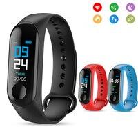 M3 Смарт-часы трекер для активной жизни браслет Цвет Экран сердечного ритма приборы для измерения артериального давления Водонепроницаемос...