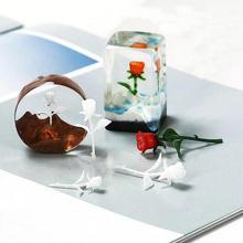 3D Three-Dimensional Mini Rose Mold DIY Crystal Epoxy Resin  Jewelry Pendant Accessories Findings Kawaii Cabochon Handmade Stuff