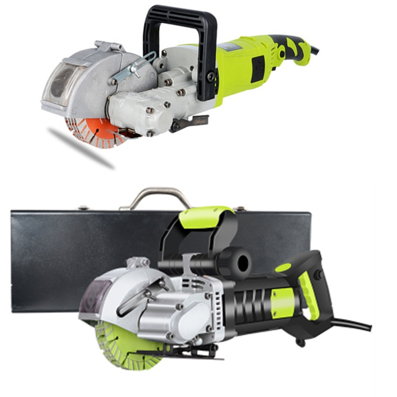 Electric Wall Chaser Groove Cutting Machine Wall Slotting Machine Steel Concrete Cutting Machine 220V