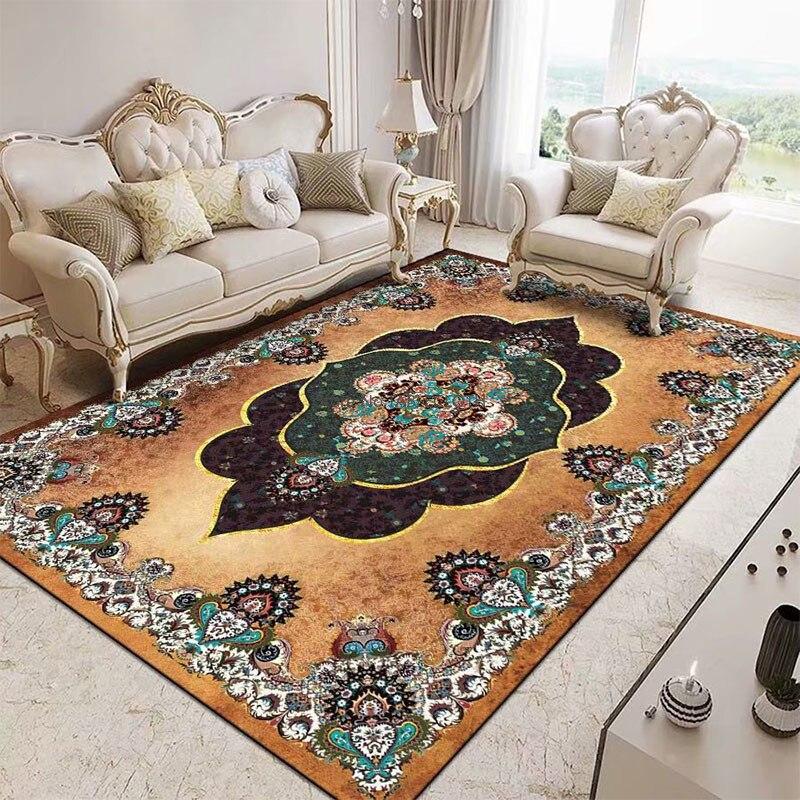 Retro Persian European Style Large Carpet Living Room Coffee Table Blanket Bedroom Full of Ethnic Style Household Floor Mats