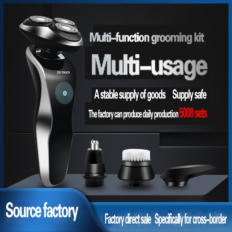 Multi-function 5D Razor USB Rechargeable Three-head Electric Shaver Whole Body Washing Electric Razor For Men Beard Shaver