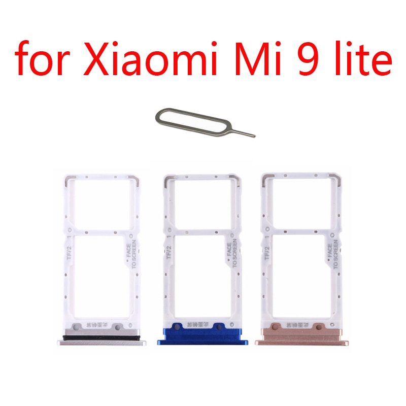 SIM Card Tray Adapter For XIAOMI Mi 9 Lite 9lite Original Mobile Phone Housing New Chip Micro SD SIM