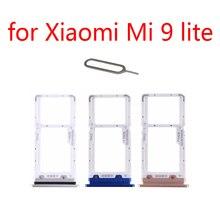 SIM Card Tray Adapter For XIAOMI Mi 9 Lite 9lite Original Mobile Phone Housing New Chip Micro SD SIM