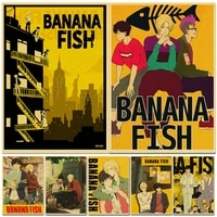 calssic anime wall art canvas painting wall pictures for home children bedroom wall decor banana fish retro prints nordic poster