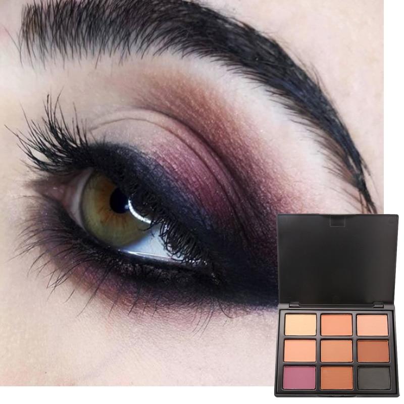 Popfeel Matte Eyeshadow Pallete 9 Colors Nude Eye Shadow Palette Eyes Makeup Powder Make up Art Smoky Shadows Pigment Cosmetics