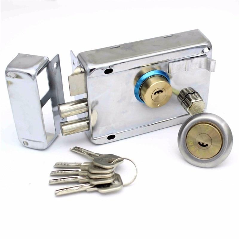 Best Exterior Iron Door Locks Security Anti-theft Lock Multiple Insurance Lock Wood Gate Lock For Furniture Hardware  lock pick