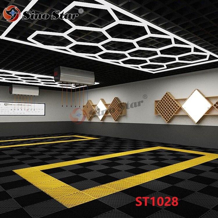Sino ستار مسدس ورشة مصباح ليد 6500K الأبيض 2.4*4.8 متر 2 سنة الضمان لسيارة المرآب السيارات الرعاية PPF السيارات