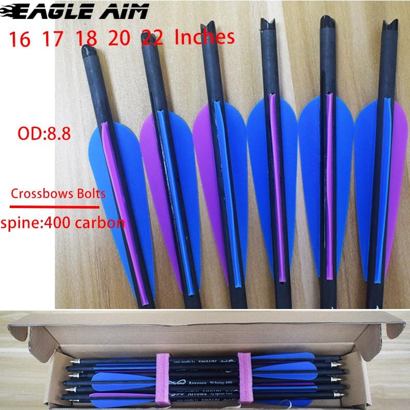 12 pièces OD flèches darc de 8.8mm avec 4
