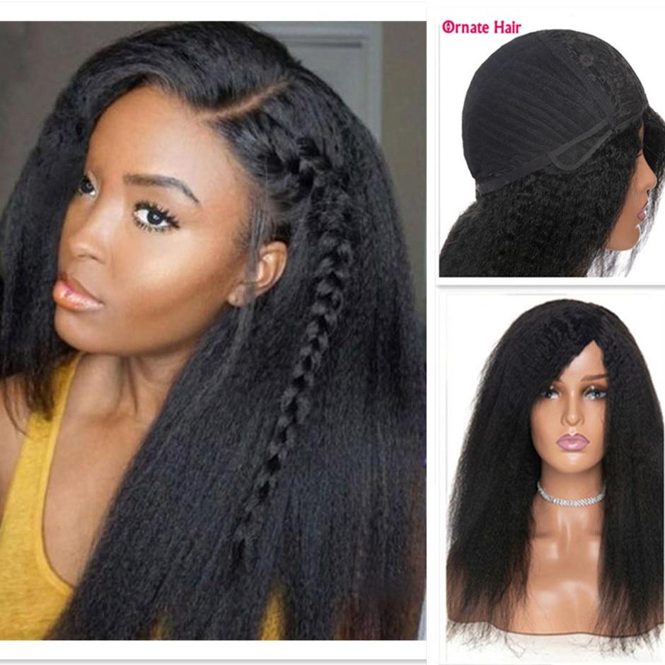 Long Hair Kinky Straight Wig Human Hair Wigs For Women Yaki Straight Human Hair Wig Brazilian Hair Wig Natural Hair Remy Hair