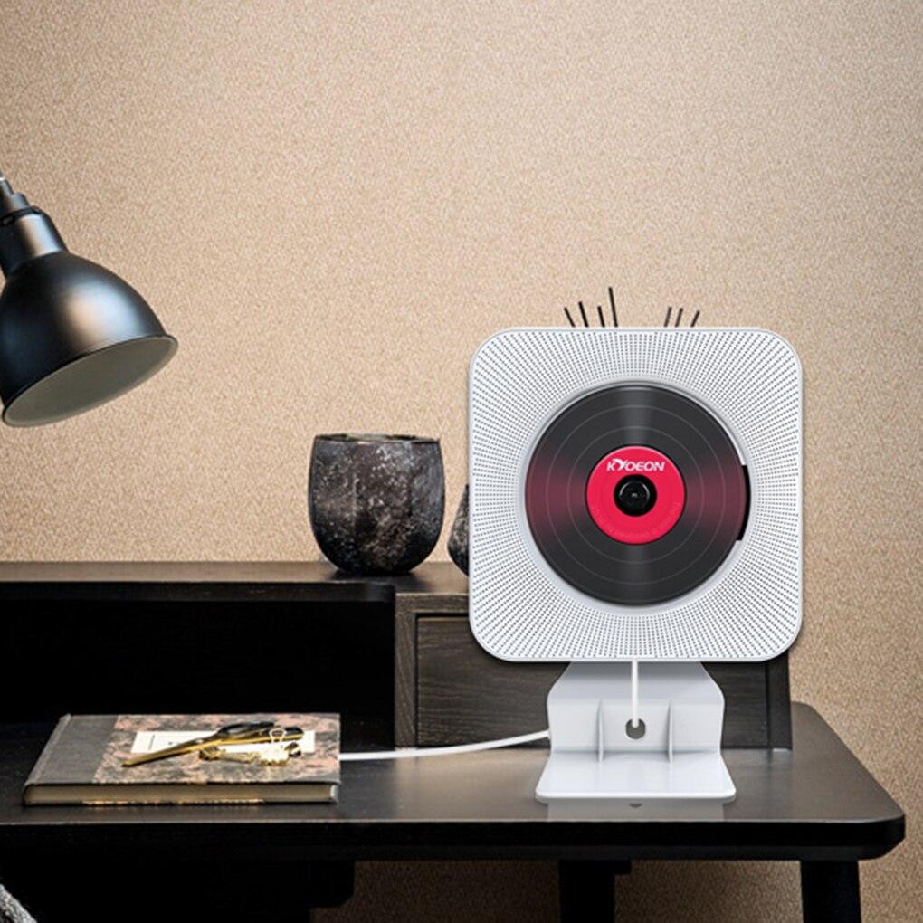 مشغل أقراص مضغوطة لاسلكي مثبت على الحائط ، مع بلوتوث ، ومفتاح سحب ، وصندوق صوت ، ومجموعة التحكم عن بعد