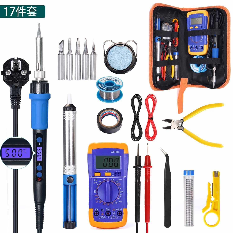110 فولت شاشة ديجيتال سبيكة لحام كهربائي مجموعة 60 واط ترموستات الكهربائية سبيكة لحام أدوات إصلاح المنزلية