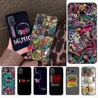yjzfdyrm graffiti art love music phone case for samsung galaxy a01 a11 a31 a81 a10 a20 a30 a40 a50 a70 a80 a71 a91 a51