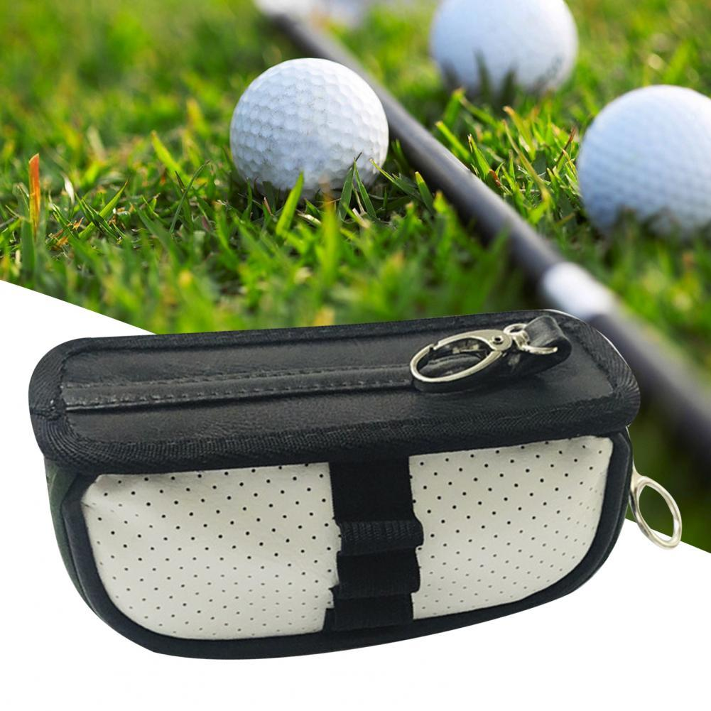 Golf Pouch Bag Practical Well-designed Faux Leather Golf Waist Pack for Sport Golf Mini Bag