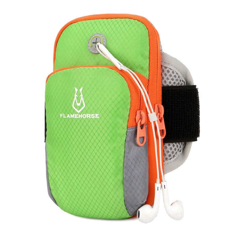 الذراع حقيبة الهاتف المحمول الرياضة تشغيل شارة خفيفة جدا تنفس متعددة الوظائف الرجال والنساء تشغيل الذراع حقيبة المحمولة