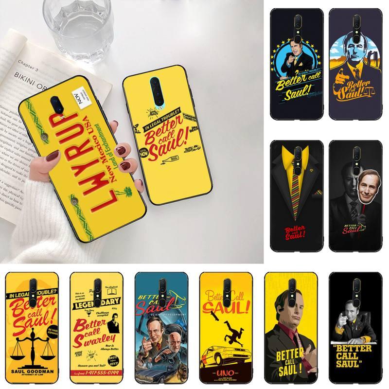 HPCHCJHM American TV Better Call Saul Phone Case Cover For Oppo A5 A9 2020 Reno2 z Renoace 3pro Realme5Pro
