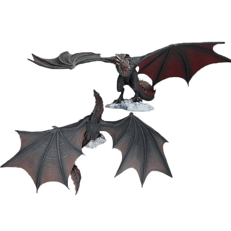 Drogon Viserion, figura de acción de PVC Rhaegal, dragón de hielo, juguete de modelo coleccionable