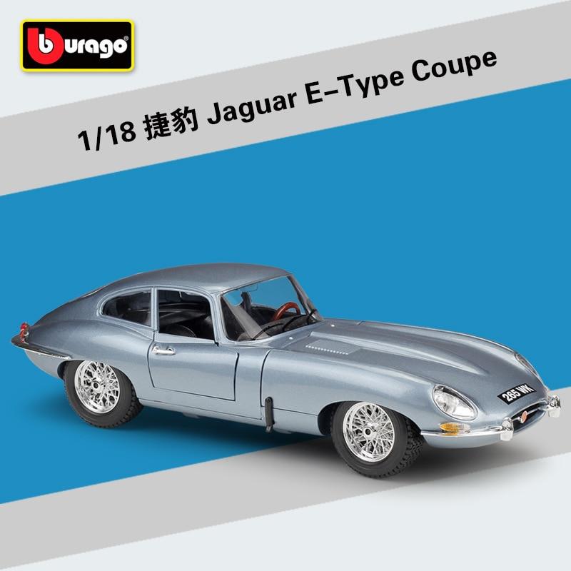 Bburago 118 jaguar e-tipo coupe carro esportivo simulação liga modelo de carro coletar presentes brinquedo