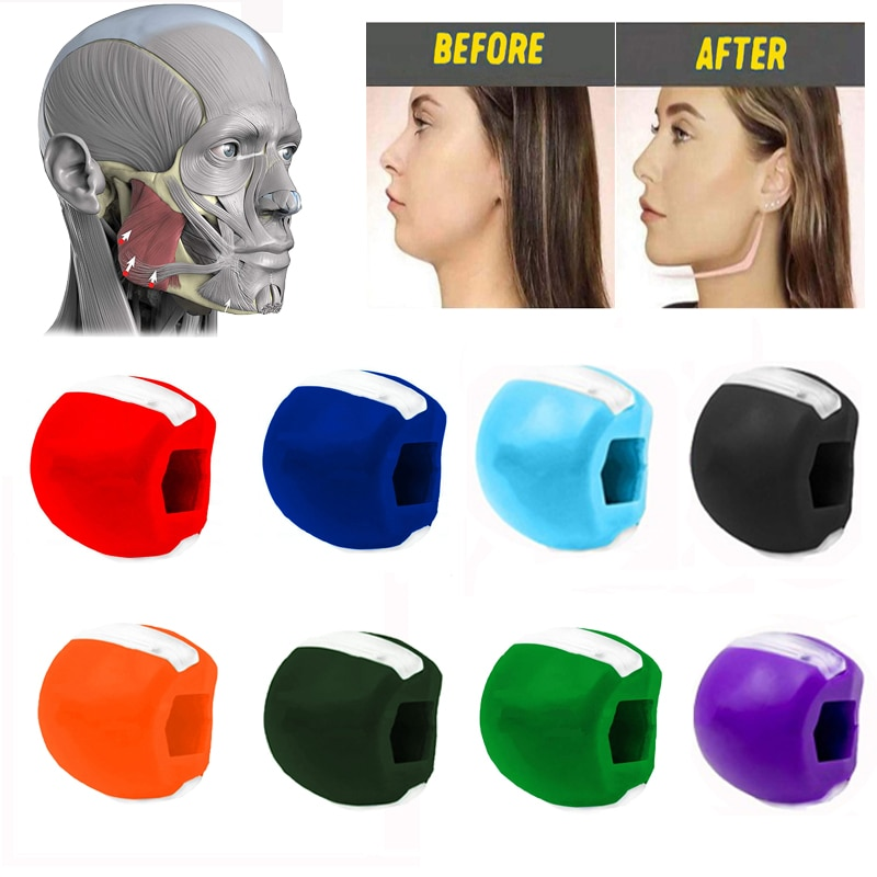 Face Masseter Men Facial Pop N Go Mouth Jawline Jaw Muscle Exerciser Chew Ball Chew Bite Breaker Training
