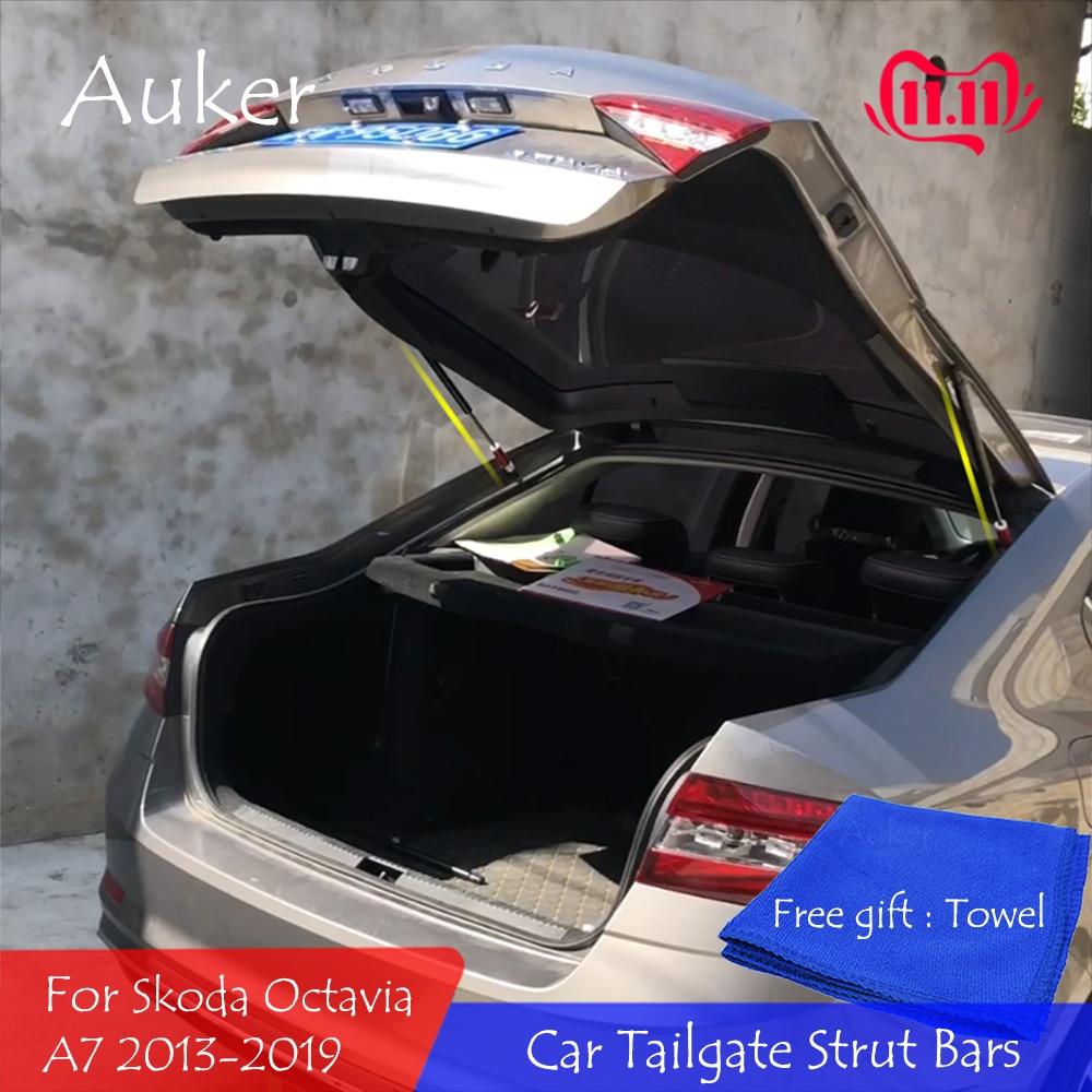 For 2012-2020 Skoda Octavia A7 MK3 Rear Door Trunk Boot Lid Liffting Support Spring Gas Strut Bars Hydraulic Rod Refit Styling