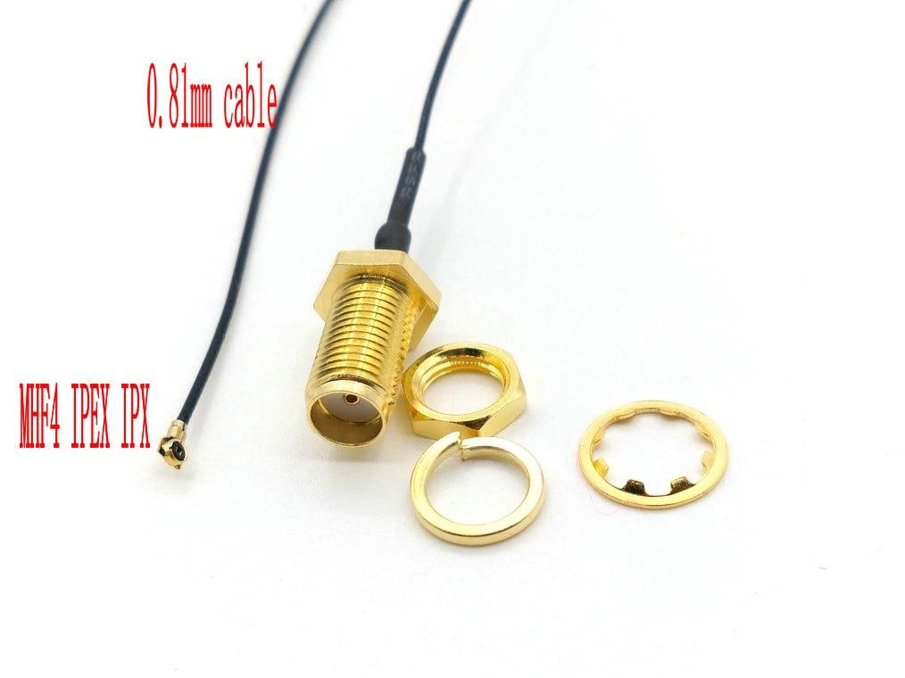 1000 قطعة SMA أنثى إلى MHF4 IPEX IPX التوصيل RF ضفيرة كابل ل PCI مصغرة 0.81 مللي متر بطاقة إنتل WIFI مجلس 25 سنتيمتر 35 سنتيمتر
